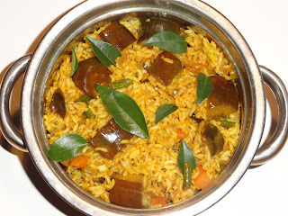 Vangi Bhath/ Flavoured Brinjal Rice