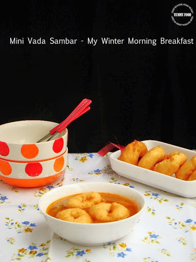 Mini Vada Sambar - My Winter Morning Breakfast