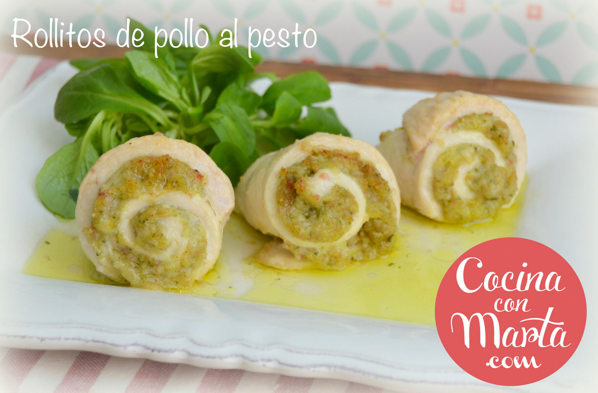 Rollitos de pollo al pesto en Olla GM