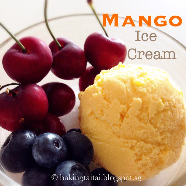 Mango Ice- Cream 芒果雪糕 (中英食谱教程)