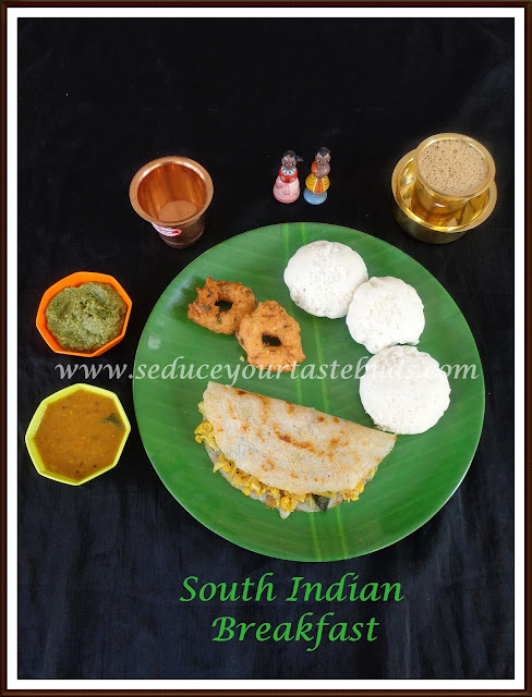 Simple South Indian[Tamil Nadu] Breakfast Platter
