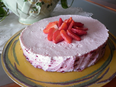 Tarta de Fresa light