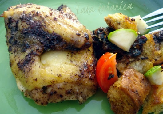 Ajme ...: Pile sa sumacom i salatom od kruha :: Sumac chicken and bread salad