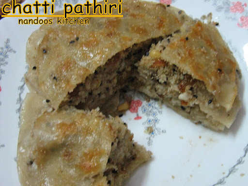 Chatti pathiri ~ A delicacy from Kerala