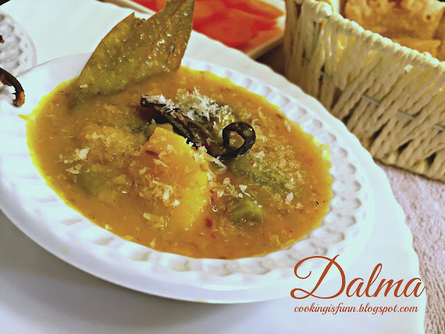 Dalma with Stuffed Brinjal Masala