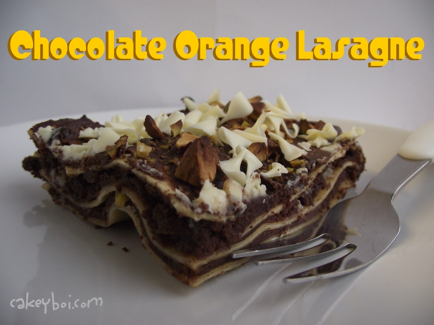 Chocolate Orange Lasagne