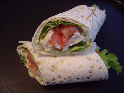 Wrap vegetal con pollo