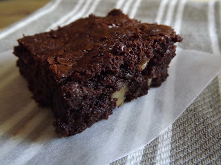 Dark Indulgent Chocolate and Walnut Brownies for the Weekly Bake Off