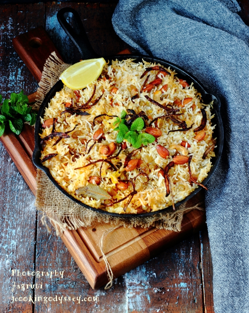 Vegan Oven Baked Butternut Squash, Spinach and Coconut Biryani #richbriyani #indianricedish #vegan