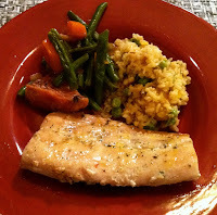 Grilled Mahi Mahi with Summer Vegetables and Mango Rice
