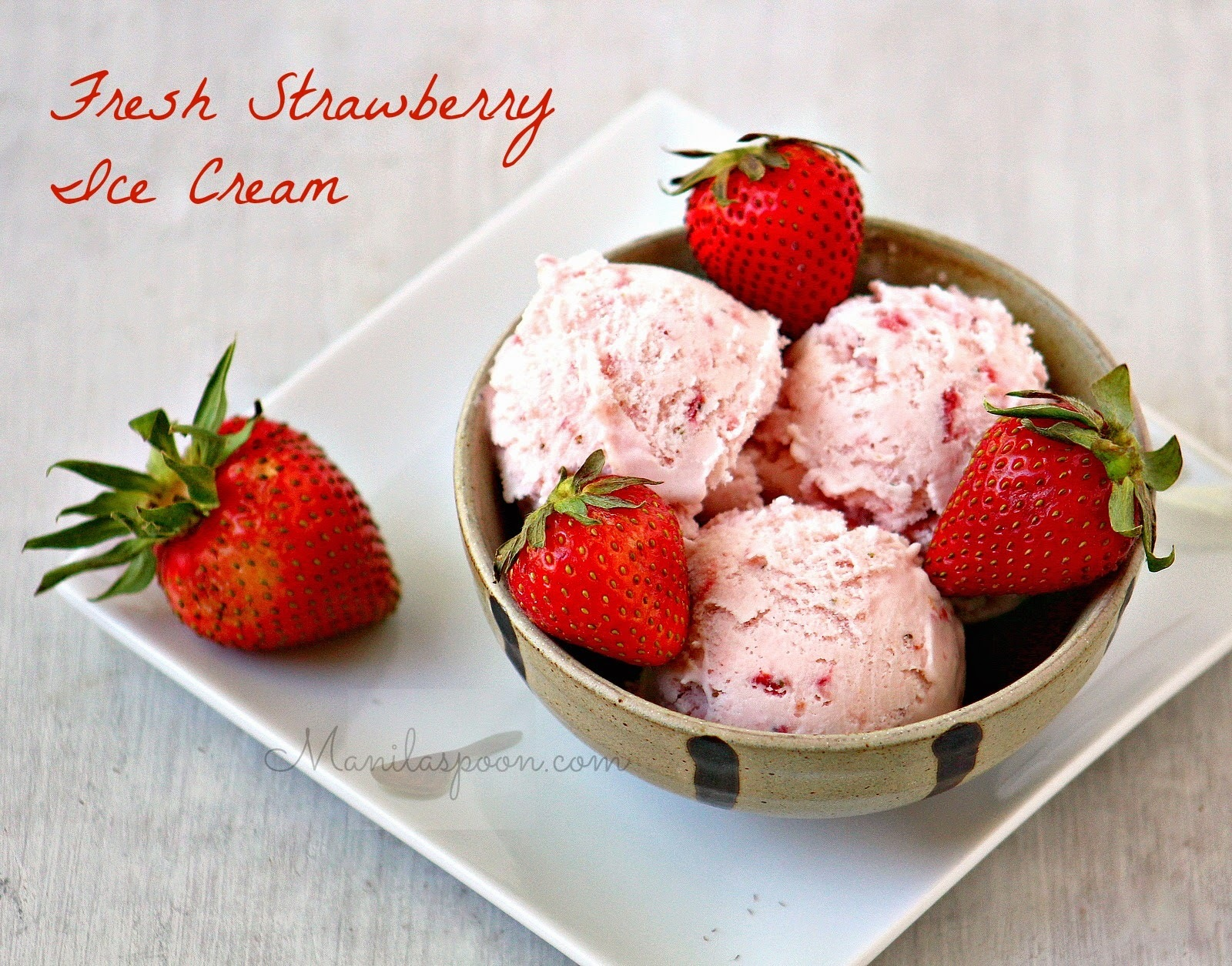 Fresh Strawberry Ice Cream
