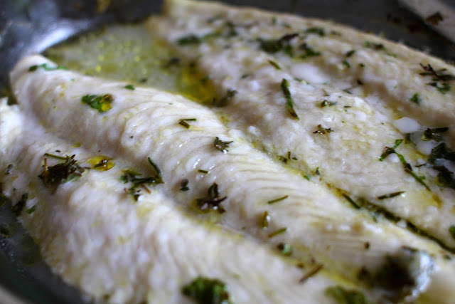 Baked White Fish with Herbs