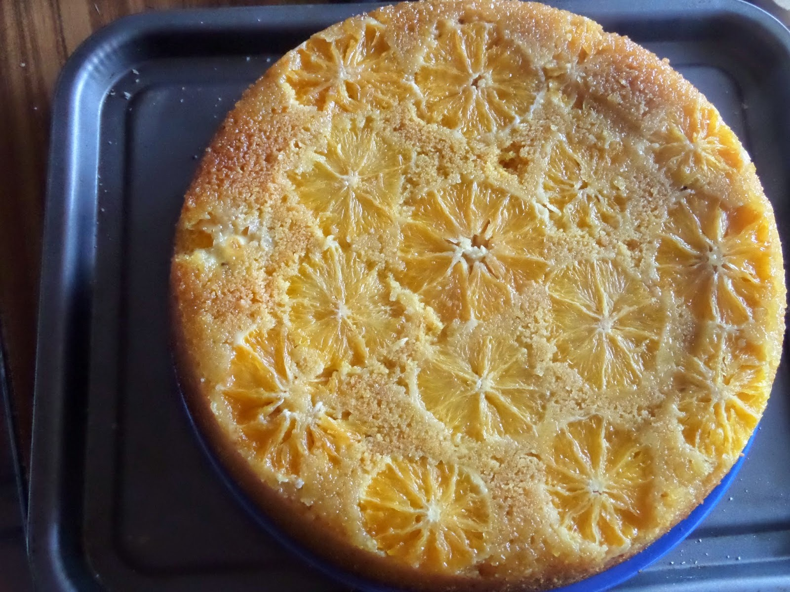 Madhouse recipe : Upside Down Orange Polenta & Olive Oil Cake