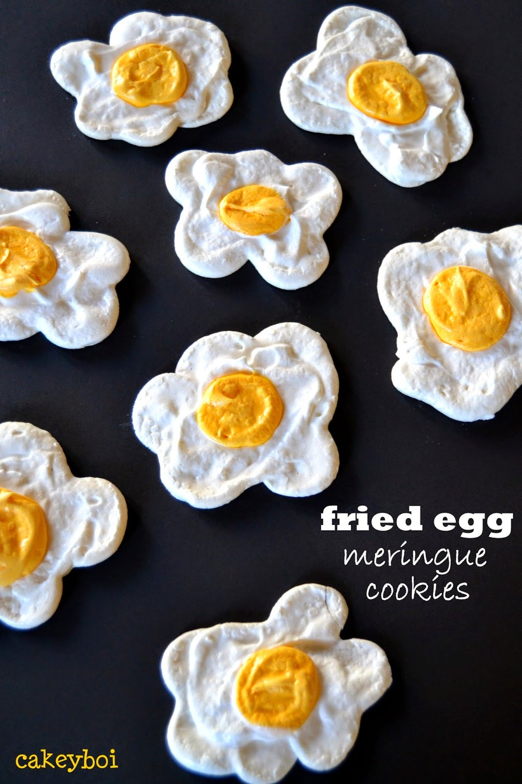 Fried Egg Meringue Cookies