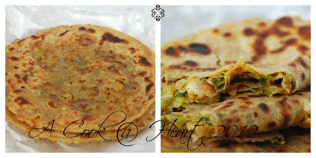Scallion Parathas