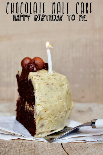 Chocolate Malt Cake {Birthday Cake}