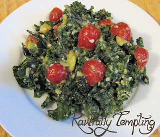 Wilted Kale Salad with a Creamy Chipotle Dressing