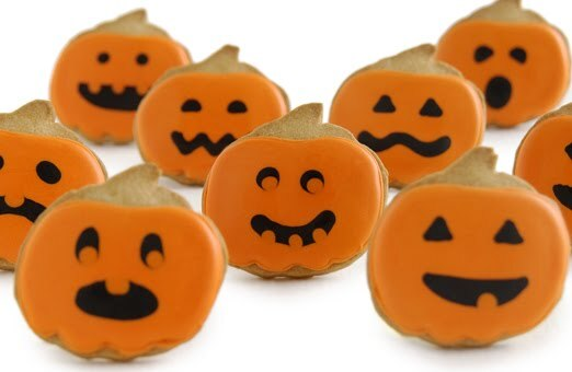 Halloween: galletas calabaza