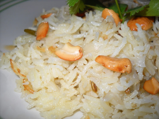 Ghee Rice with Coconut Stew