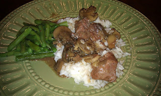 Low Fat Crockpot Beef Stroganoff