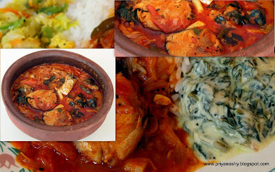 Fish curry with Tomatoes / Thakkali itta Meen curry