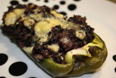 Gorgonzola & Black Rice Stuffed Peppers