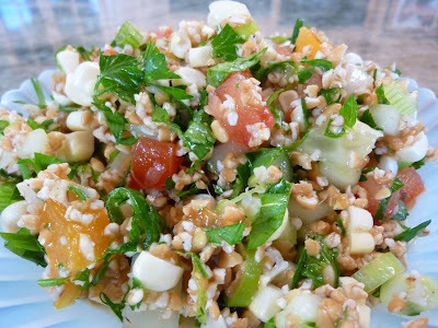 Foods That Cool You Down In The Hot Summer - Cool Off With Tabouli With Sweet Corn