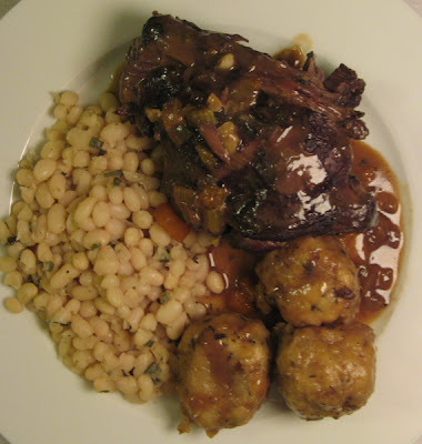 H is for... Hare in Hobsons Old Henry ale with herby dumplings and haricot beans