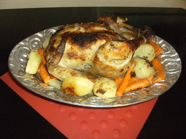 What's for Dinner Tonight- Garlic Roasted Chicken