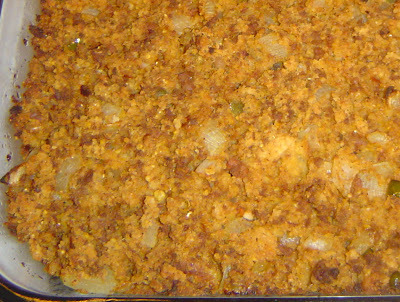 Chorizo and Jalapeno Cornbread Stuffing