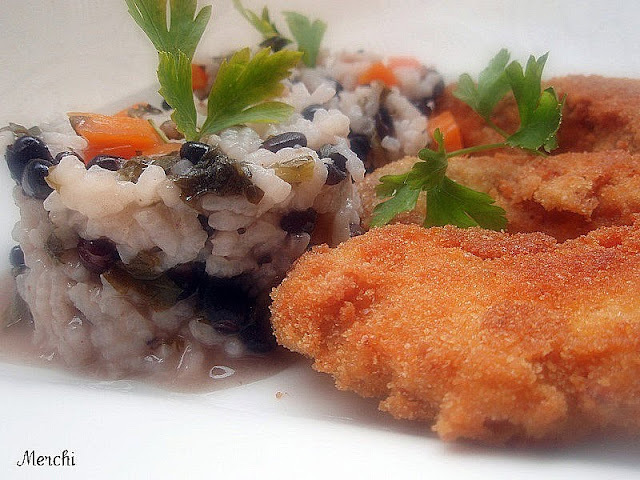 Filetes de pulpo con arroz