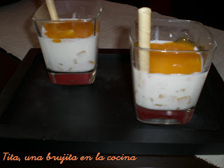 Copa de yogurt tropical