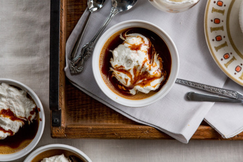 Salted Caramel Pots de Creme Desserts are hard. Not, like,...