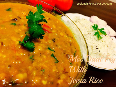 Mix Daal Fry With Jeera Rice