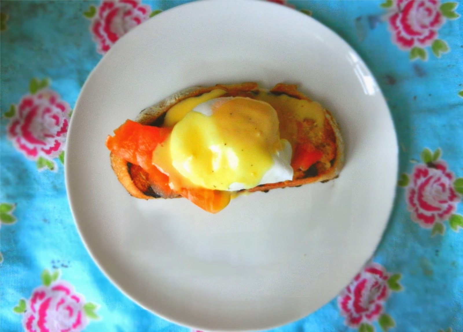 Poached Eggs, Smoked Salmon and Hollandaise Sauce on Grilled Sourdough