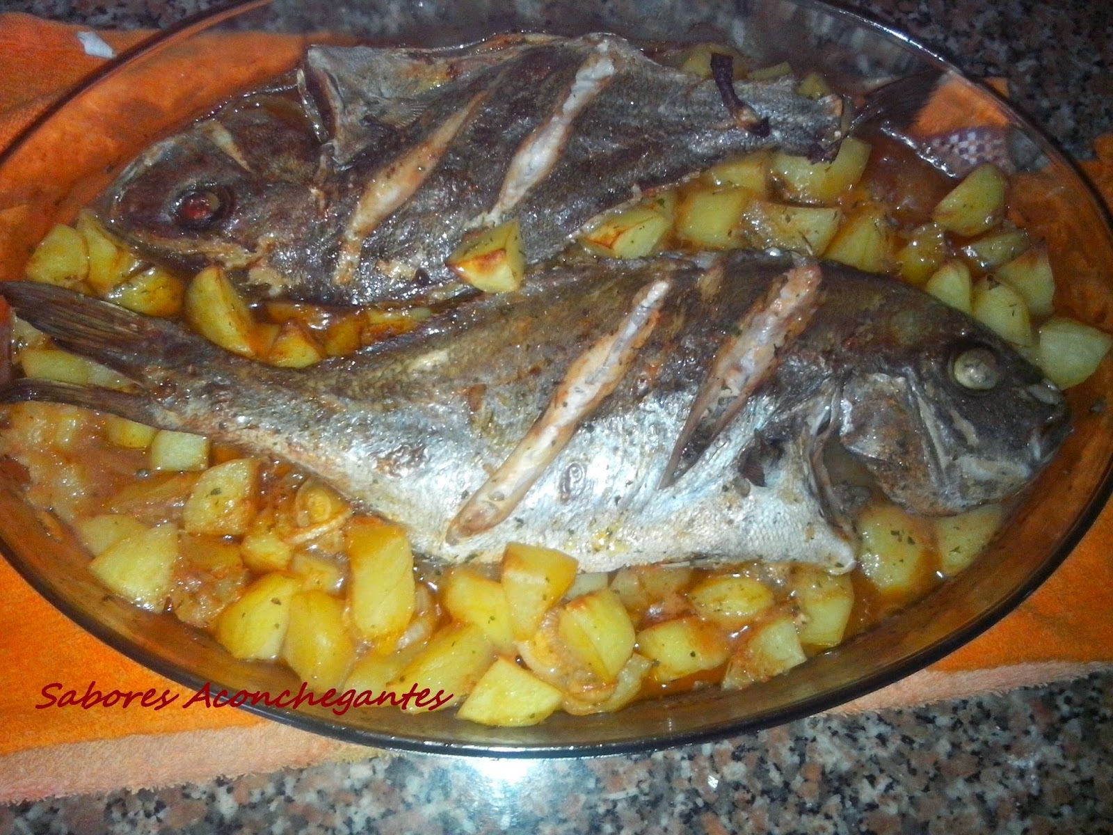 Pargo Assado no Forno