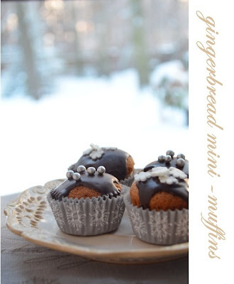 Piernikowe mini-muffiny/ Gingerbread mini muffins