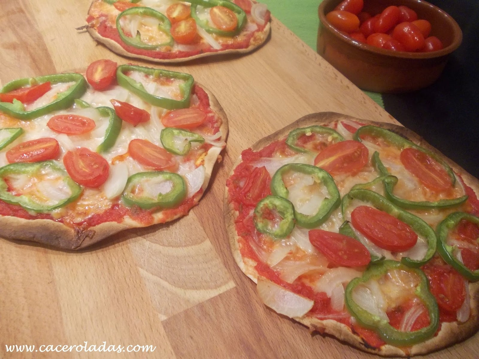 Pizzas rápidas de verduras (light)