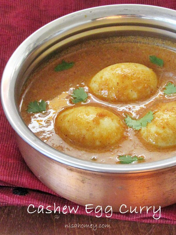 Egg Curry - Cashew Egg Curry Recipe