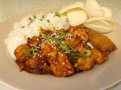 General Tso's chicken - a real crowd pleaser!