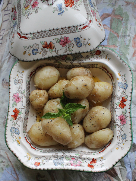 Jersey Royals with Mint #FoodieExtravaganza