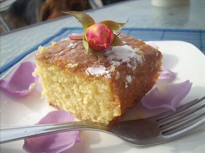 Vanilla and rice flour cake and a... guest writer post!