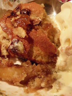 Toffee apple pudding for a cold, dark night