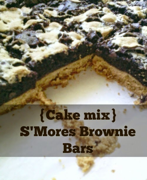 {Cake Mix} S'mores Brownie Bars