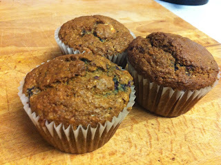 Healthy Banana & Blueberry Muffins