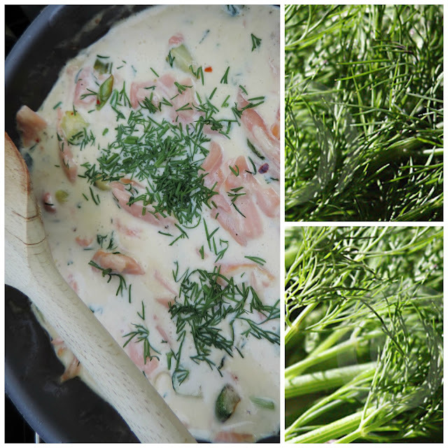 Scottish Smoked Salmon in a Creamy Dill Sauce
