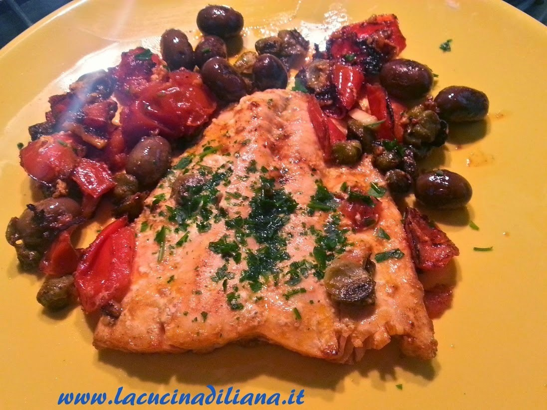 Filetto di Salmone alla Mediterranea