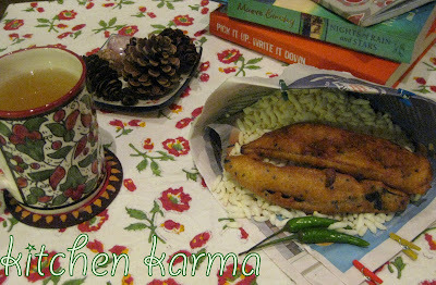Tea Time With Aubergine Fritters (Beguni)