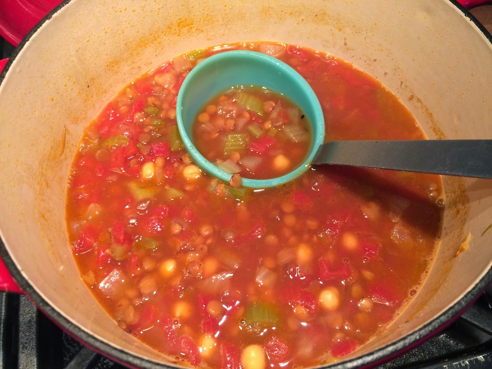 VEGETARIAN Chickpea and Lentil Soup