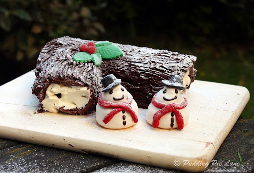 Chocolate Yule Log (with step by step instructions)